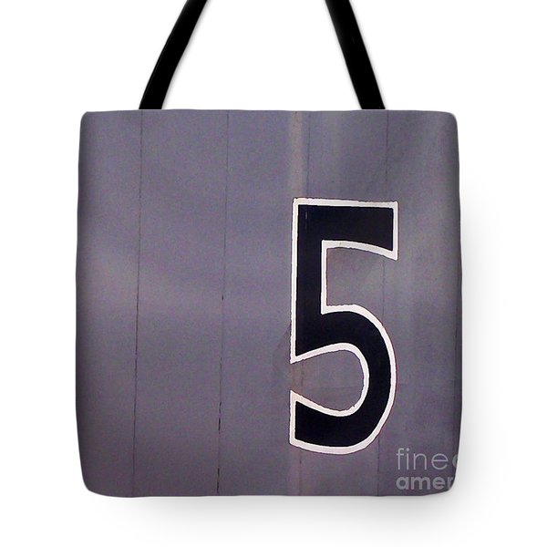The Number 5 Tote Bag