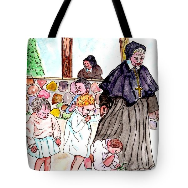 The Nuns Of St Mary's Church Tote Bag