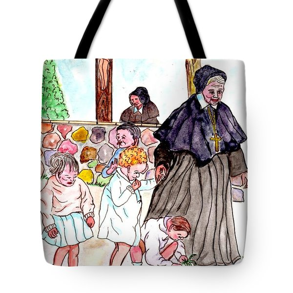 The Nuns Of St Marys Tote Bag by Philip Bracco