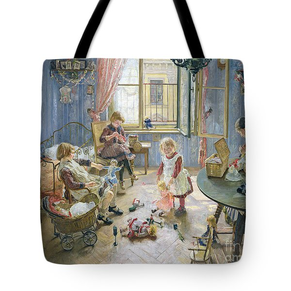 The Nursery Tote Bag by Fritz von Uhde