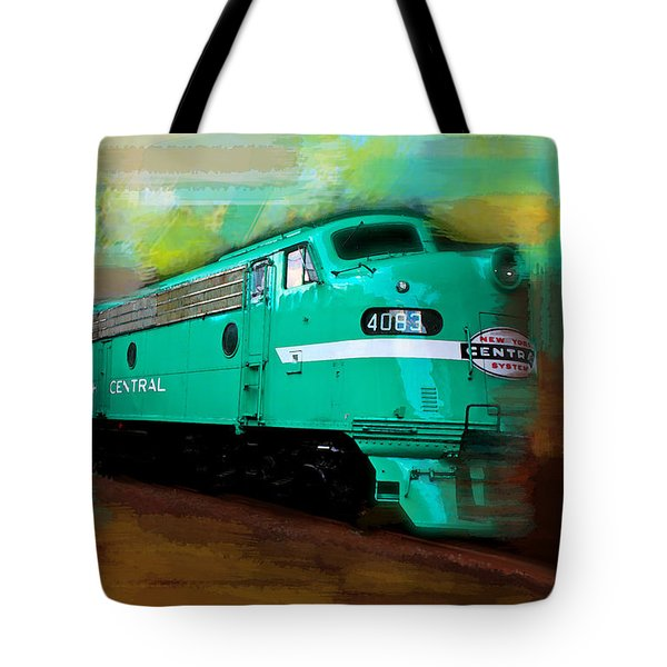 Flash II  The Ny Central 4083  Train  Tote Bag