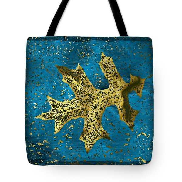 The Oak Leaf And The Wind Storm Tote Bag by Tim Allen
