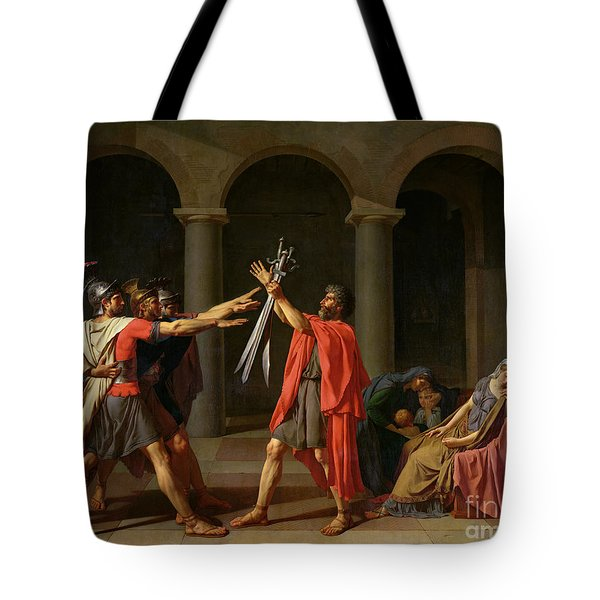 The Oath Of Horatii Tote Bag by Jacques Louis David