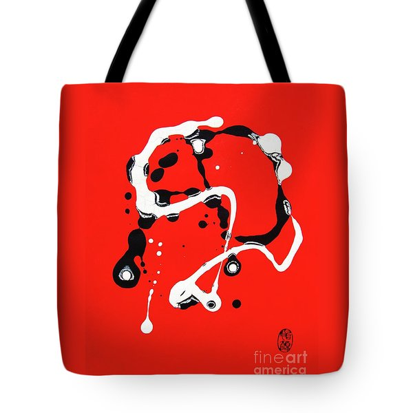 Tote Bag featuring the painting The Obstacle Is The Path by Roberto Prusso