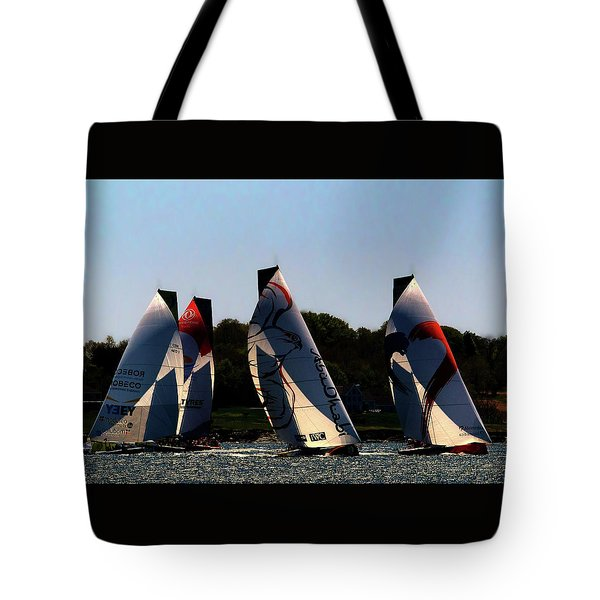 Tote Bag featuring the photograph The Ocean Race by Tom Prendergast
