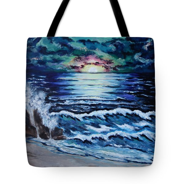 The Ocean Sings The Sky Listens Tote Bag by Cheryl Pettigrew