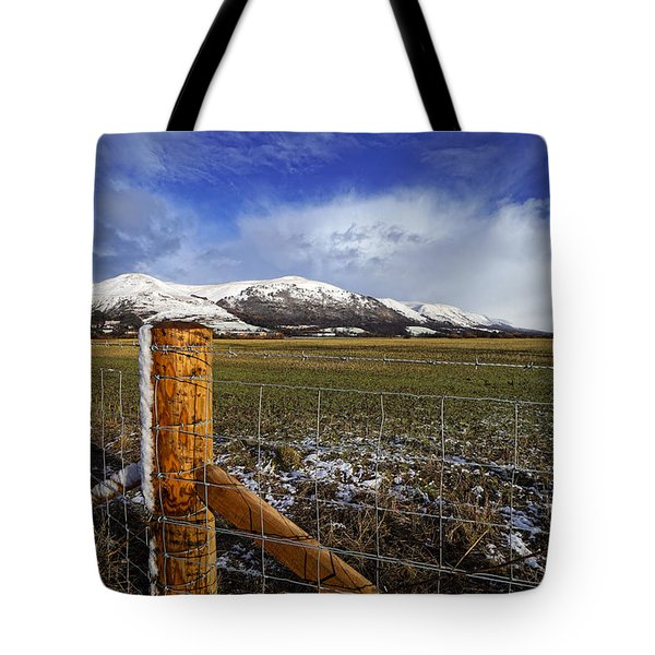 Tote Bag featuring the photograph The Ochils In Winter by Jeremy Lavender Photography