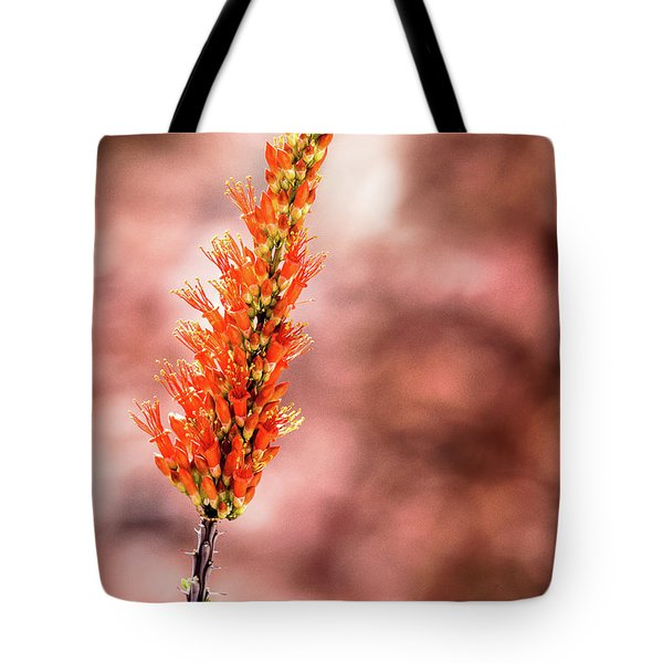 Tote Bag featuring the photograph The Ocotillo by Onyonet  Photo Studios