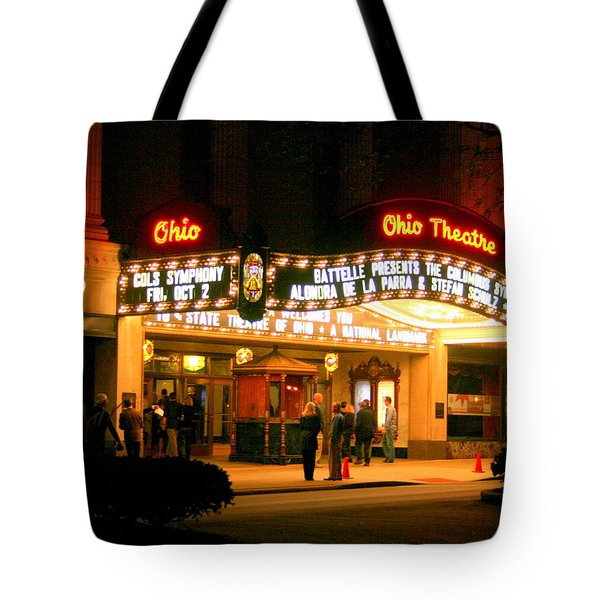 The Ohio Theater At Night Tote Bag