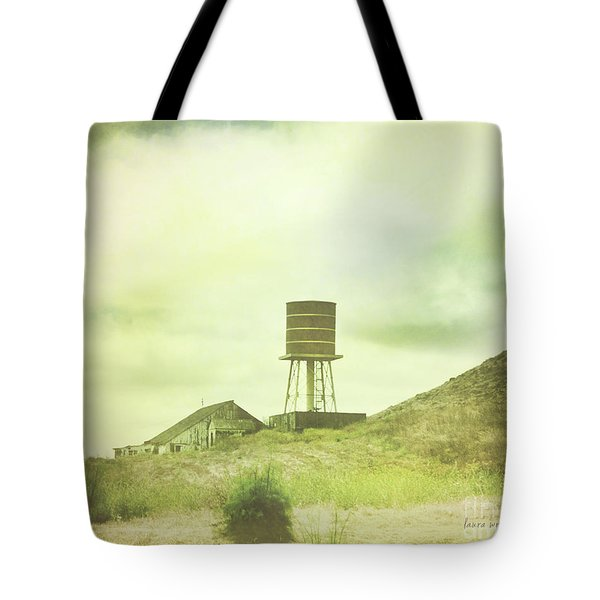 The Old Barn And Water Tower In Vintage Style San Luis Obispo California Tote Bag