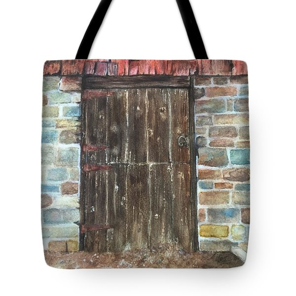 The Old Barn Door Tote Bag by Lucia Grilletto