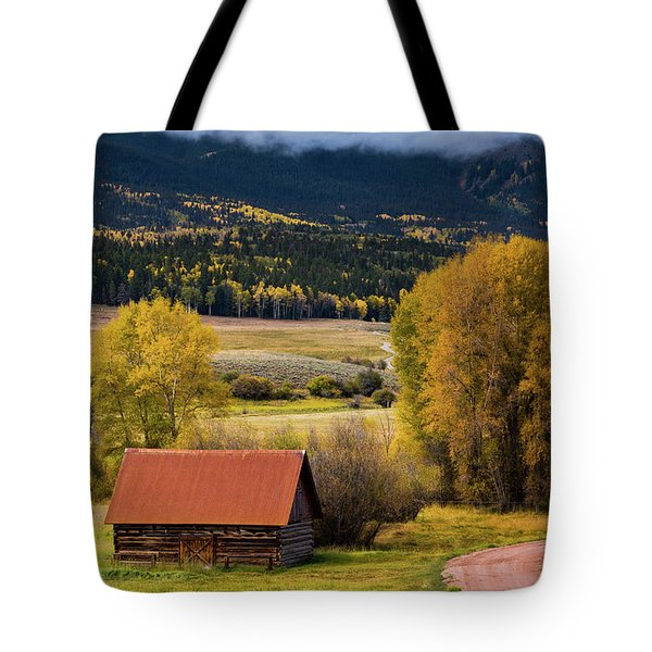 Tote Bag featuring the photograph The Old Barn On Ohio Pass by John De Bord