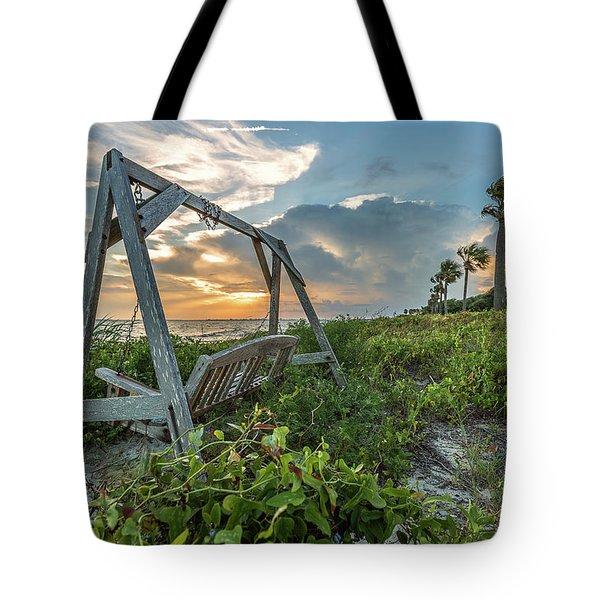 The Old Beach Swing -  Sullivan's Island, Sc Tote Bag
