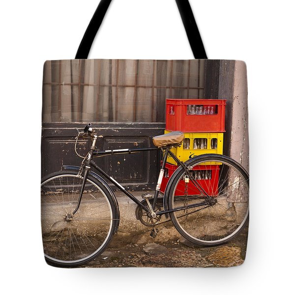 The Old Bicycle Tote Bag by Rae Tucker