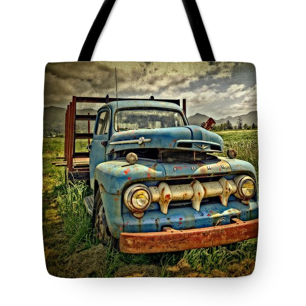 The Blue Classic Ford Truck Tote Bag