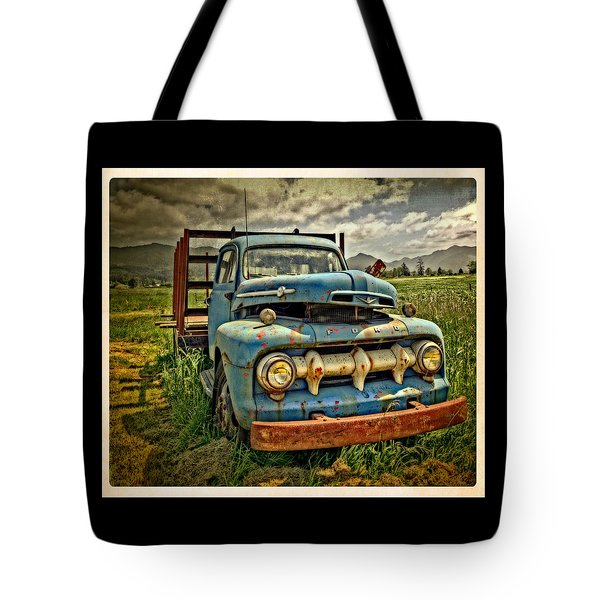 The Blue Classic 48 To 52 Ford Truck Tote Bag