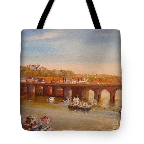 The Old Bridge - Folkestone Harbour Tote Bag by Beatrice Cloake
