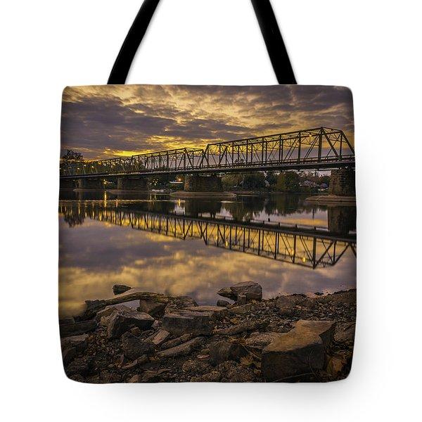 Underwater Bridge Tote Bag