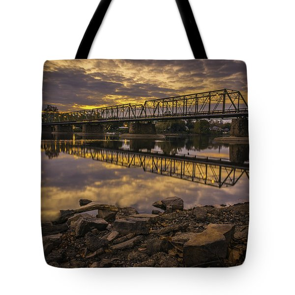 Underwater Bridge Tote Bag