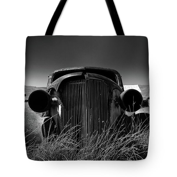 The Old Buick Tote Bag by Marius Sipa