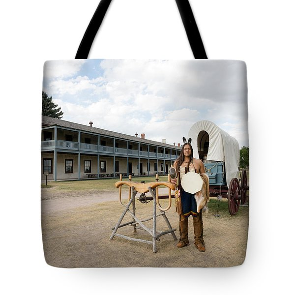 The Old Cavalry Barracks At Fort Laramie National Historic Site Tote Bag by Carol M Highsmith