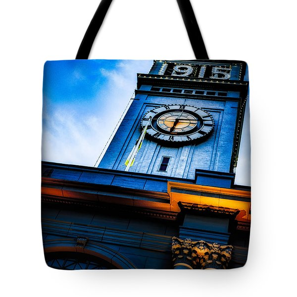 The Old Clock Tower Tote Bag