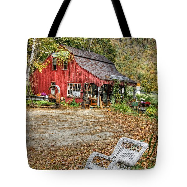 Tote Bag featuring the photograph The Old Country Store by David Birchall