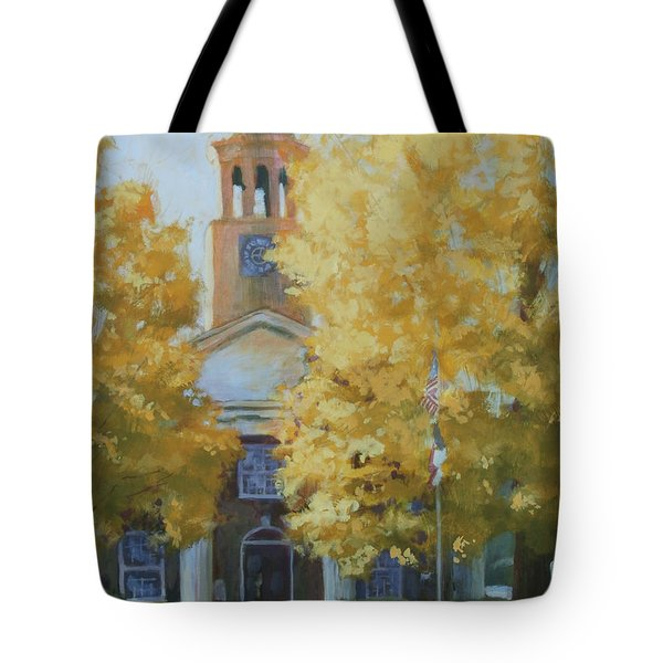 The Old Courthouse, 9am Tote Bag by Carol Strickland