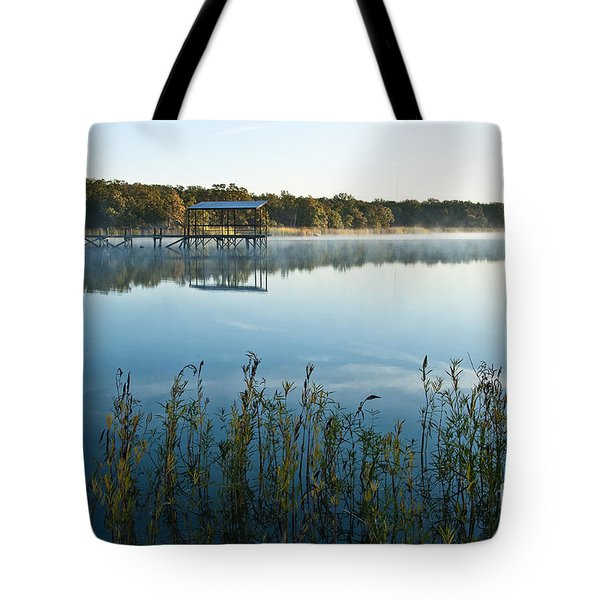 Tote Bag featuring the photograph The Old Fishing Pier by Tamyra Ayles