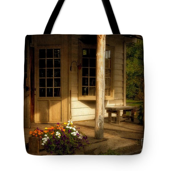 The Old General Store Tote Bag by Lois Bryan