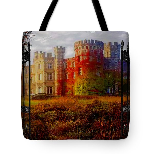 The Old Haunted Castle Tote Bag by Michael Rucker