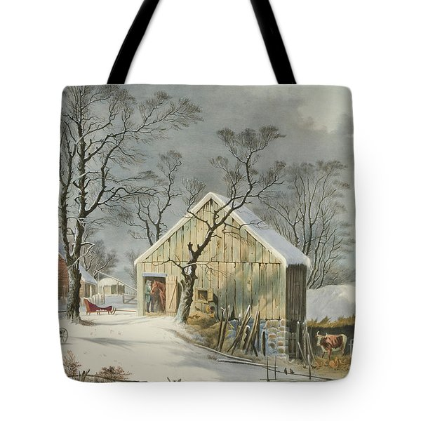 The Old Homestead In Winter, 1864  Tote Bag