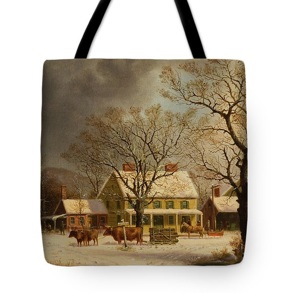 The Old Inn  Ten Miles To Salem Tote Bag