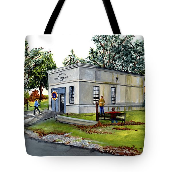 The Old Jail Tote Bag by Elaine Hodges