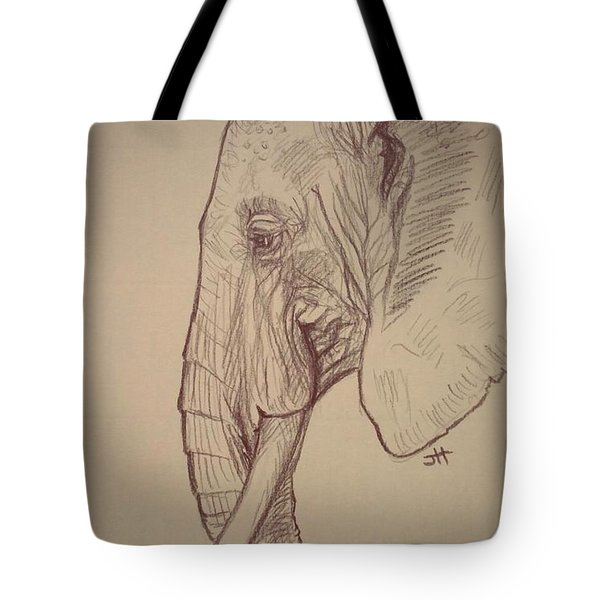 Tote Bag featuring the drawing The Old Leader by Jennifer Hotai