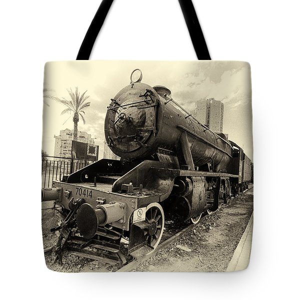 The Old Locomotive Tote Bag by Uri Baruch