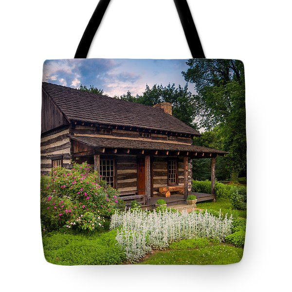 The Old Log Home  Tote Bag