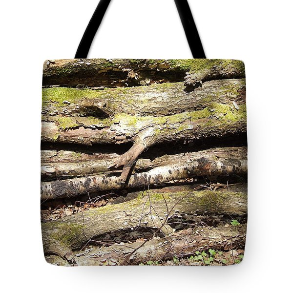 The Old Log Pile Tote Bag