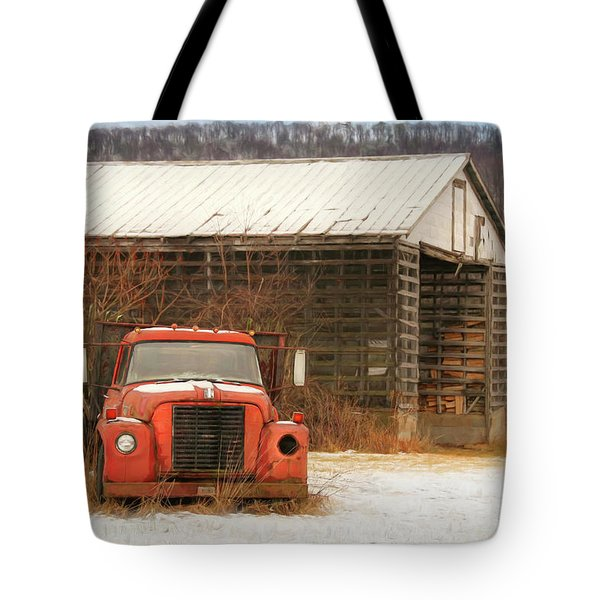Tote Bag featuring the photograph The Old Lumber Truck by Lori Deiter