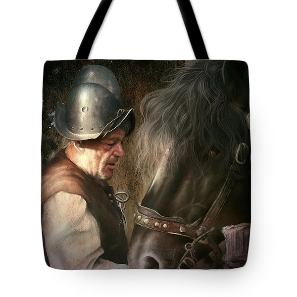 The Old Man And His Trusty Friend Tote Bag