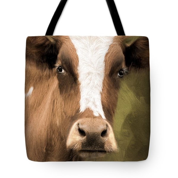 Tote Bag featuring the photograph OX by Robin-Lee Vieira