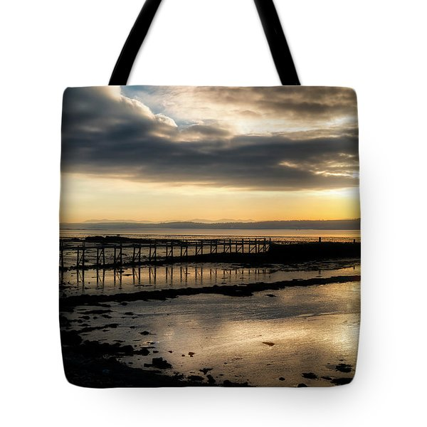 The Old Pier In Culross, Scotland Tote Bag