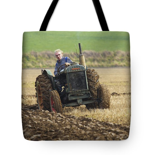 Tote Bag featuring the photograph The Old Ploughman by Roy McPeak