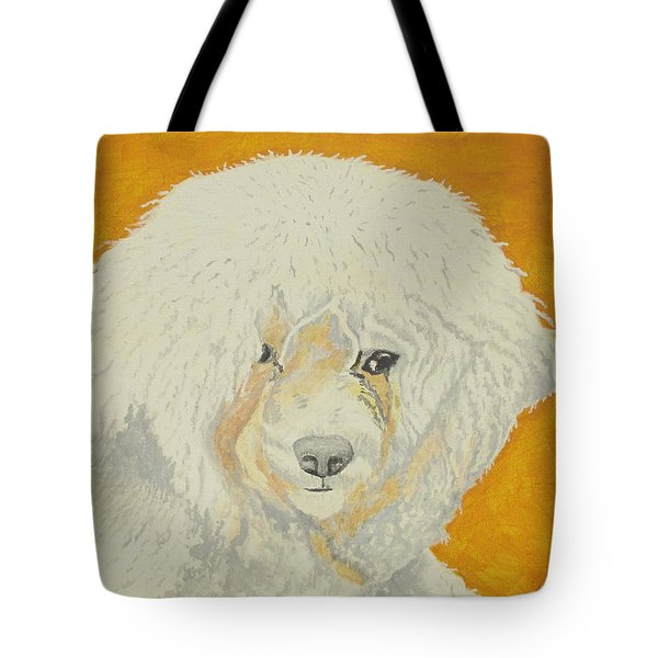 Tote Bag featuring the painting The Old Poodle by Hilda and Jose Garrancho