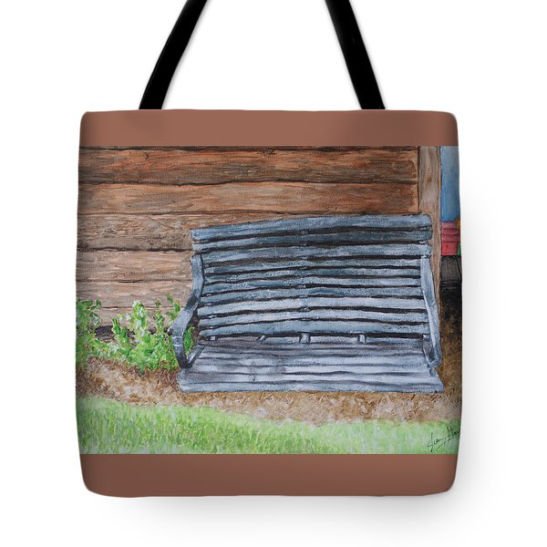 The Old Porch Swing Tote Bag by Jean Haynes