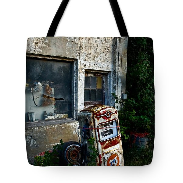 The Old Pump Tote Bag by Loni Collins