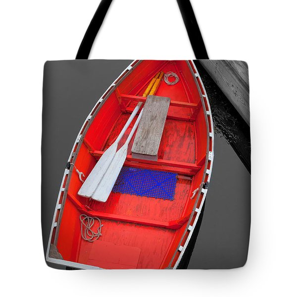 The Old Red Lobster Boat  Tote Bag