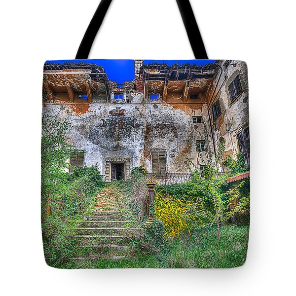 Tote Bag featuring the photograph The Old Ruined Castle by Enrico Pelos