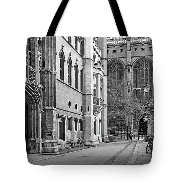 Tote Bag featuring the photograph The Old Schools University Offices Cambridge by Gill Billington