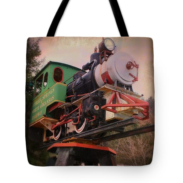 Tote Bag featuring the photograph The Old Steam Locomotive by Robin Regan